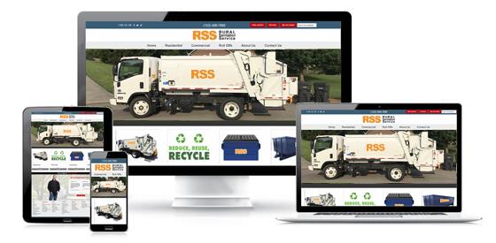 Waste hauler website template